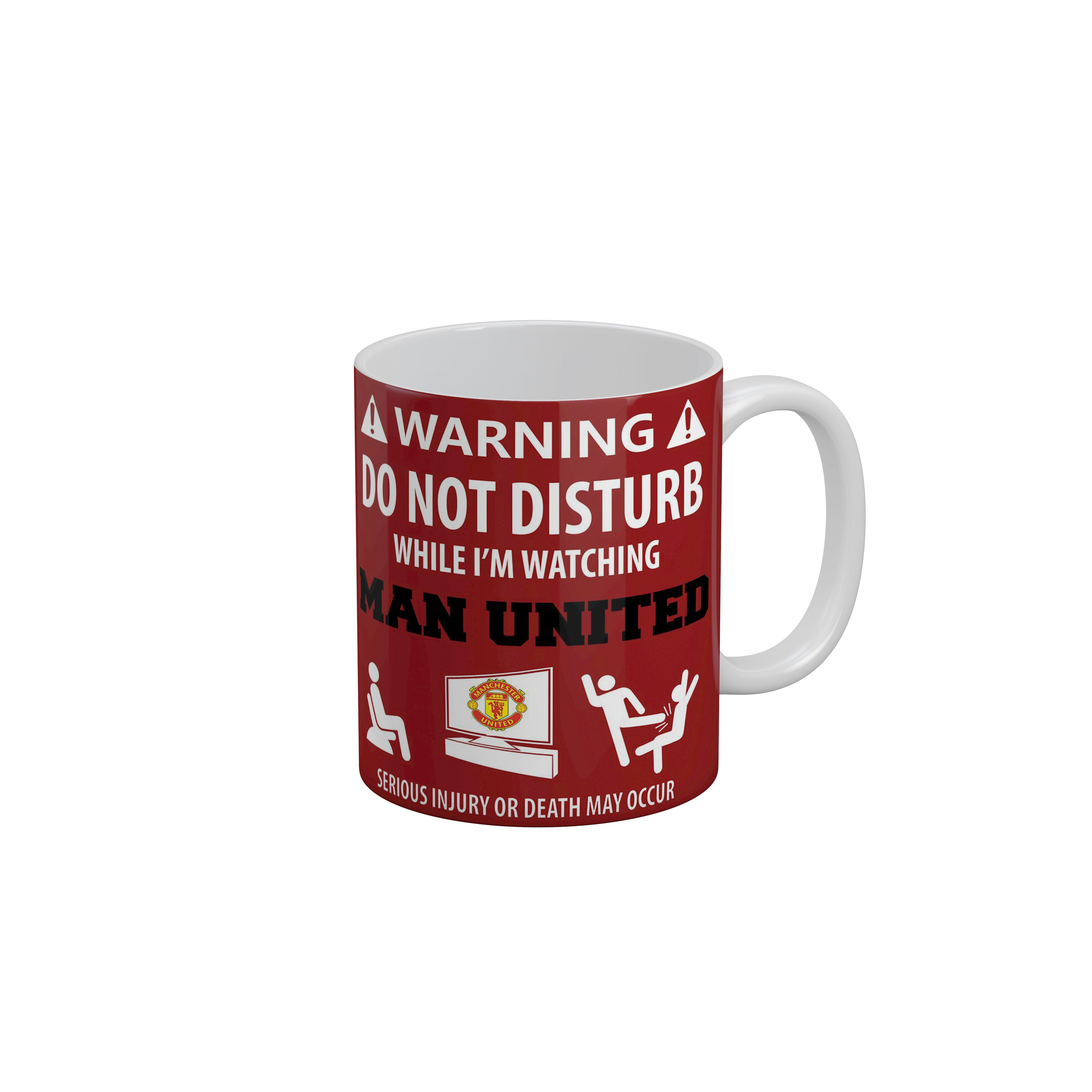 Funkytradition Warning Do Not Disturb Red Funny Quotes Ceramic