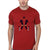 FunkyTradition Red Round Neck Deadpool With Gun Men Half Sleeves T-Shirt