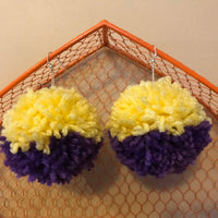 Geaux Pom Earrings
