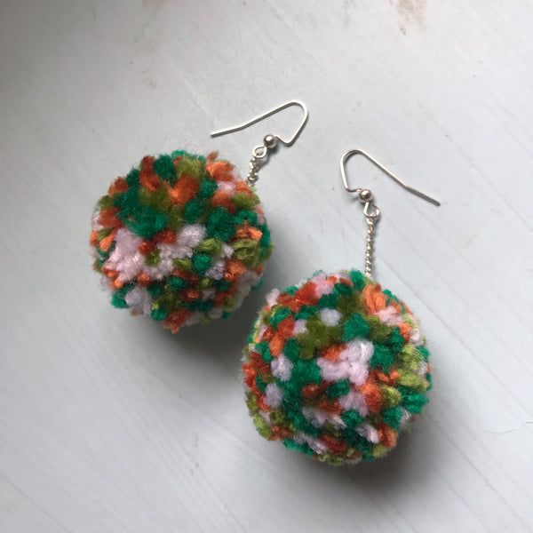 Luck o' the Irish Pom Earrings