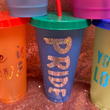 Color Changing Tumbler With Straw
