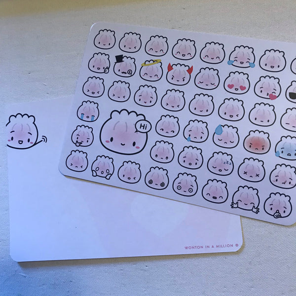 Steamie Emoji Notecard Set