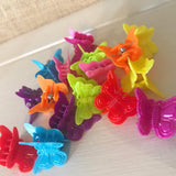 Rainbow Butterfly Clips