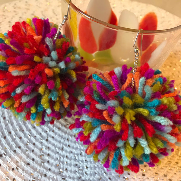 Carnival Pom Earrings