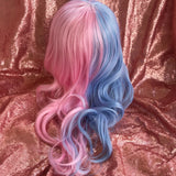 Pink and Blue Split Wig