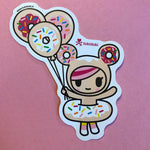 Donutella Balloons Sticker