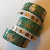 Golden Steamie Doubloon Washi Tape