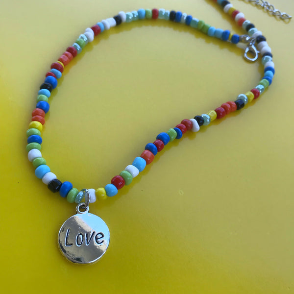 Love Beaded Necklace