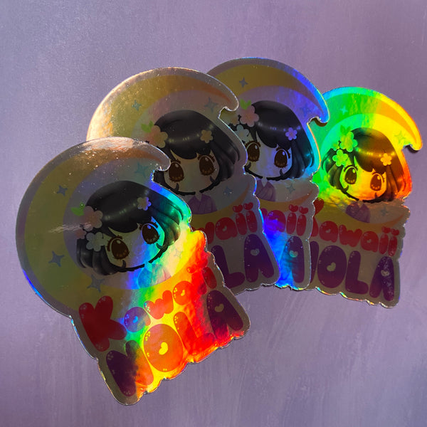 Kawaii NOLA Holographic Sticker