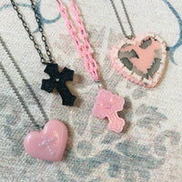 Heart Cross Necklace