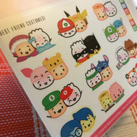 Best Friend Costumes Stickers