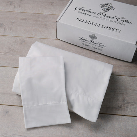 Southern Drawl Sheet Set (Vintage White)