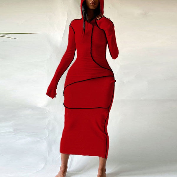 Adorbs Hooded Long Sleeve Dress