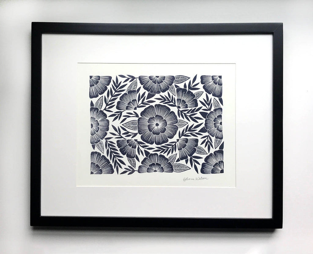 Framed Original Block Print