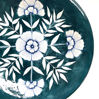 Seconds Sale: Hand Painted Large Ceramic Plate
