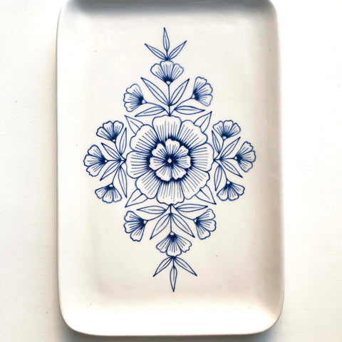 Hand Painted Ceramic Tray