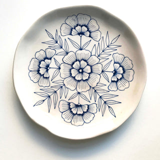 Hand Painted Ceramic Plate
