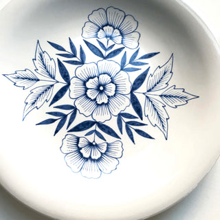 Hand Painted Large Ceramic Plate