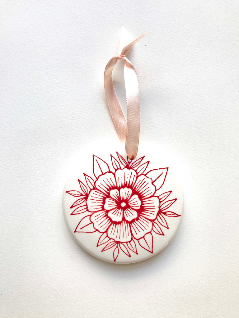 Hand Painted Ceramic Ornament