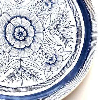 Hand Painted Extra-Large Ceramic Platter