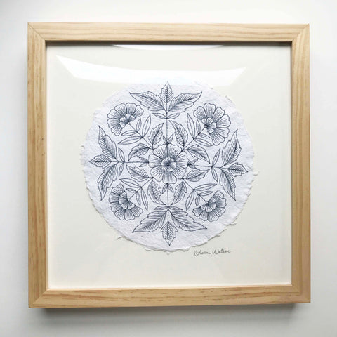 Framed Original Ink Drawing