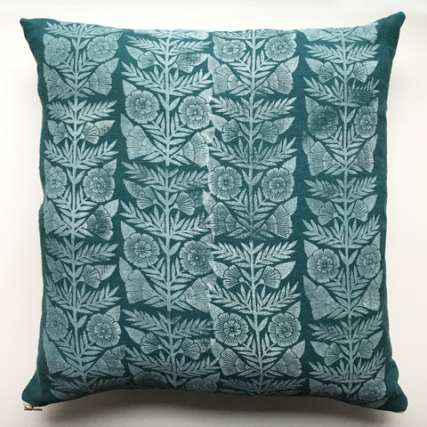 Hand Block Printed Linen Pillow