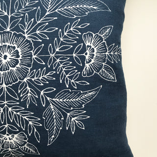 Hand Painted Linen Pillow