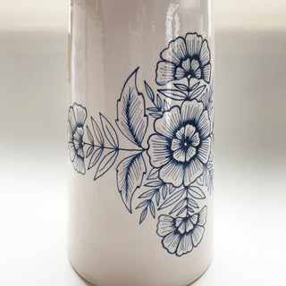Hand Painted Extra-Large Ceramic Pitcher