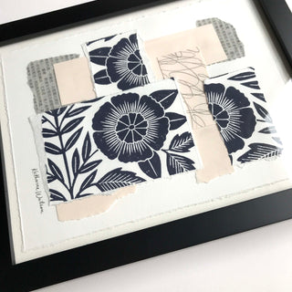 Katharine Watson Framed Block Printed Collage