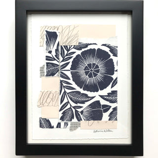 Katharine Watson Framed Block Printed Collage - I
