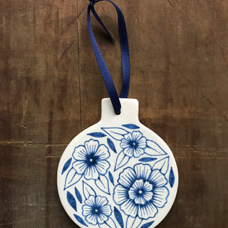 Hand Painted Ceramic Ornament - No. 048