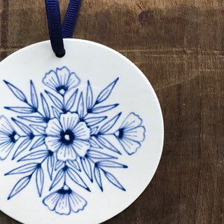 Hand Painted Ceramic Ornament - No. 065