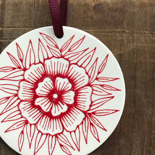 Hand Painted Ceramic Ornament - No. 062