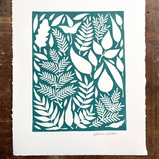 SECONDS: Hand Block Printed Art Print