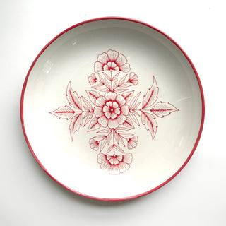 Hand Painted Extra-Large Ceramic Bowl