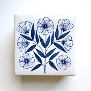 Hand Painted Ceramic Box