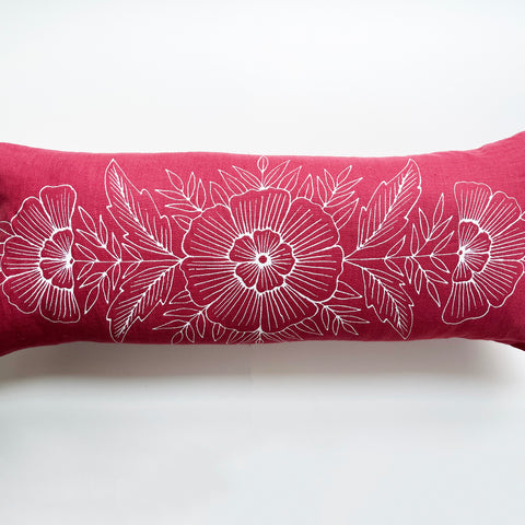 Hand Painted Lumbar Pillow