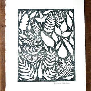 Hand Block Printed Art Print