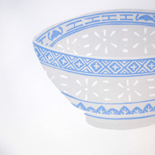 Hand Block Printed Chinese Bowl Art Print
