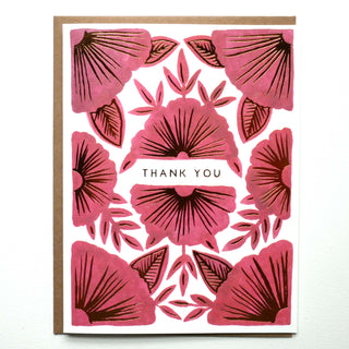 """Thank You"" Foil Stamped Cards"