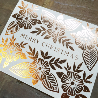 """Merry Christmas"" Foil Stamped Cards"