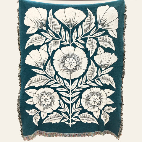 PREORDER: Floral Woven Blanket
