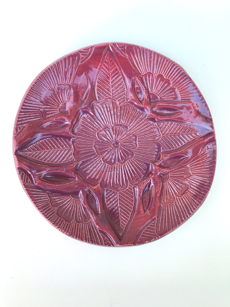 Block Printed Ceramic Dish