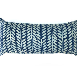 Hand Block Printed Lumbar Pillow