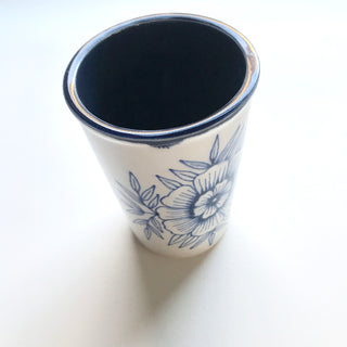 SECONDS: Hand Painted Ceramic Cup