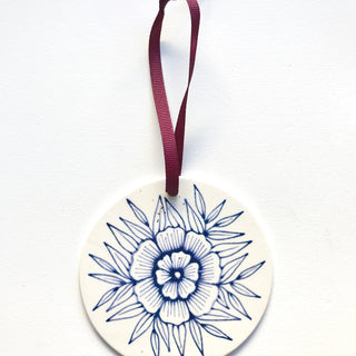 SECONDS: Hand Painted Ceramic Ornament