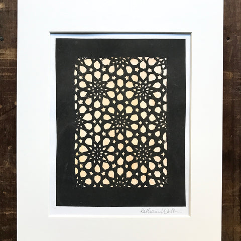 Screen Printed Matted Art Print