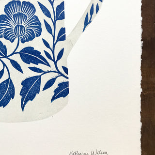 SECONDS: Hand Block Printed Pitcher Print