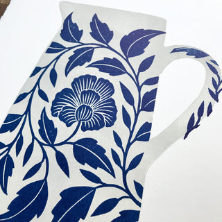 Hand Block Printed Pitcher Print
