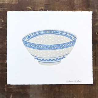 SECONDS: Hand Block Printed Chinese Bowl Print